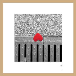 """Mini-cadre """"Cœur rouge"""""""