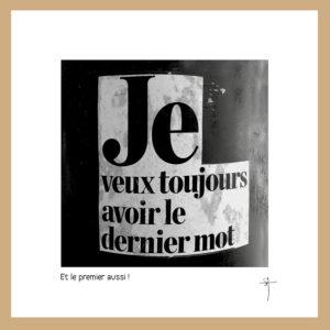 """Mini-cadre """"Dernier mot"""""""