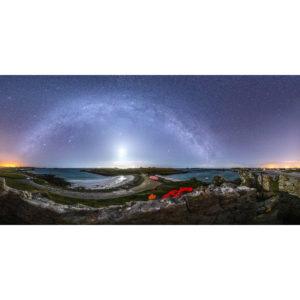 Porspoder : Presqu'Île Saint-Laurent sous la Voie lactée