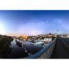 Douarnenez : Le Port Rhu depuis le pont sous la Voie lactée