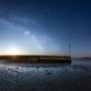 Mousterlin : La cale sous la Voie lactée