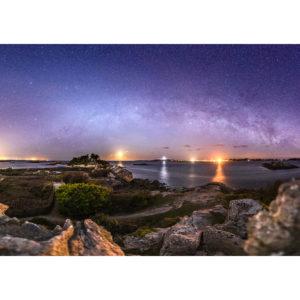 Roscoff : ïle de Bratz sous les étoiles vue de Perharidy