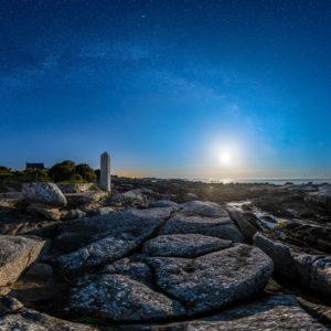 Trégunc : Pointe de la Jument sous les étoiles