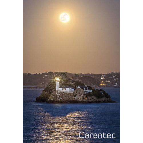 """Magnet """"Pleine Lune sur l'Île Louët"""""""