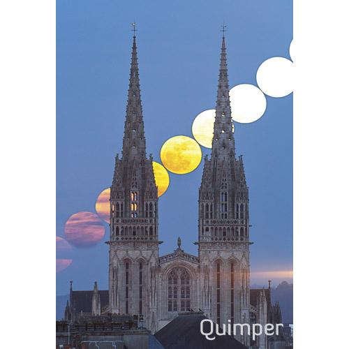 """Magnet """"Chapelet de Pleines Lunes sur la cathédrale de Quimper"""""""