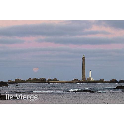 """Magnet """"Phare de l'Île Vierge et Pleine Lune"""""""