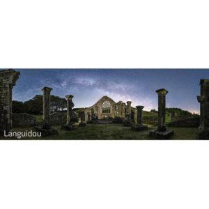 """Magnet """"Ruines de Languidou sous la Voie lactée"""""""