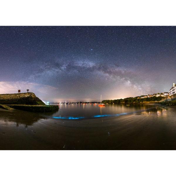 Douarnenez : Plancton phosphorescent dans le port du Rosmeur