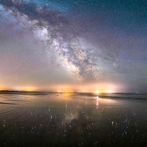 Tréguennec : Le reflet des étoiles dans le sable mouillé