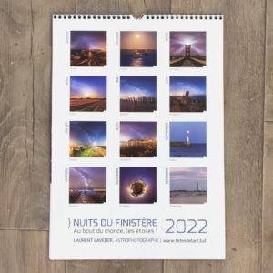 """calendrier 2022 """"Nuits du Finistère"""""""