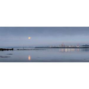 Brest : Pleine Lune sur la rade