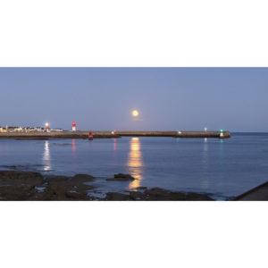 Le Guilvinec : La Pleine Lune au-dessus du port